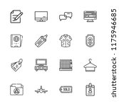 collection of 16 blank outline... | Shutterstock .eps vector #1175946685
