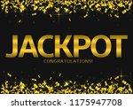 jackpot big win. golden... | Shutterstock .eps vector #1175947708