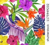 floral seamless pattern.... | Shutterstock . vector #1175949232
