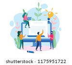 human resources  recruitment... | Shutterstock .eps vector #1175951722