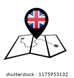 united kingdom and map pointer | Shutterstock .eps vector #1175953132