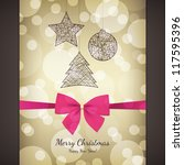 christmas and new year. vector... | Shutterstock .eps vector #117595396