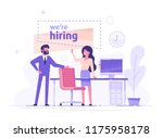 businessman and woman are... | Shutterstock .eps vector #1175958178