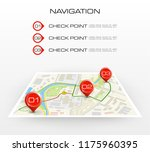 location icon map. road... | Shutterstock .eps vector #1175960395