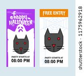happy halloween invitation... | Shutterstock .eps vector #1175962918