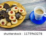 coffee and different types of... | Shutterstock . vector #1175963278