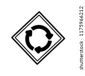 roundabout sign icon vector... | Shutterstock .eps vector #1175966212