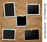 photo frame with old background  | Shutterstock . vector #1175968138