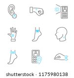 human electronic tagging... | Shutterstock .eps vector #1175980138
