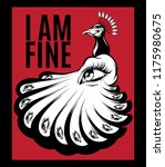 i am fine. vector poster with... | Shutterstock .eps vector #1175980675