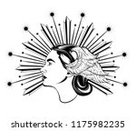 vector hand drawn illustration... | Shutterstock .eps vector #1175982235