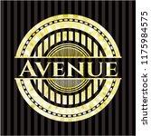 avenue gold badge | Shutterstock .eps vector #1175984575