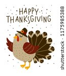 thanksgiving greeting card with ...   Shutterstock .eps vector #1175985388