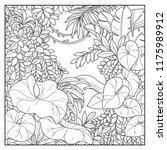 wild jungle with lianas black... | Shutterstock .eps vector #1175989912
