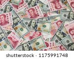 us dollar bill and chinese yuan ... | Shutterstock . vector #1175991748