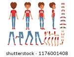 boy character creation set ...   Shutterstock .eps vector #1176001408