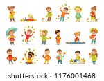 autumn children s outdoor... | Shutterstock .eps vector #1176001468