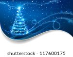 the magic christmas tree.... | Shutterstock .eps vector #117600175
