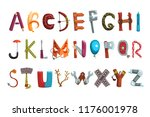 collection of letters made of...   Shutterstock .eps vector #1176001978