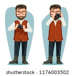 spectacles journey photographer ... | Shutterstock .eps vector #1176003502