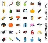 colored vector icon set   spike ... | Shutterstock .eps vector #1176013492