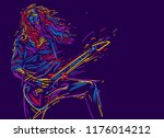 musician with a guitar. rock... | Shutterstock .eps vector #1176014212