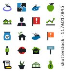 color and black flat icon set   ... | Shutterstock .eps vector #1176017845