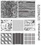 eight seamless vector patterns... | Shutterstock .eps vector #117602272