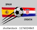 flags of spain and croatia   ... | Shutterstock .eps vector #1176024865
