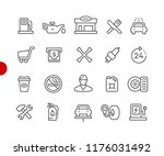 gas station icons    red point...   Shutterstock .eps vector #1176031492
