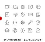 web   mobile icons    red point ... | Shutterstock .eps vector #1176031495