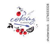 logotype for cooking classes... | Shutterstock .eps vector #1176033328