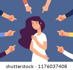 victim women. depressed girl in ... | Shutterstock .eps vector #1176037408