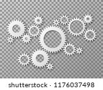 gears background. cogwheels... | Shutterstock .eps vector #1176037498