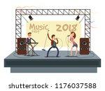 music festival concert with pop ... | Shutterstock .eps vector #1176037588