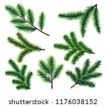 pine tree branches. christmas... | Shutterstock .eps vector #1176038152