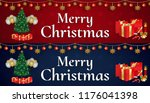 merry christmas and happy new... | Shutterstock .eps vector #1176041398