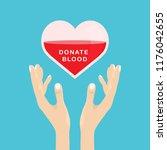 donate blood concept. blood... | Shutterstock .eps vector #1176042655