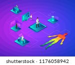 isometric smart health and...   Shutterstock .eps vector #1176058942