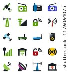 color and black flat icon set   ... | Shutterstock .eps vector #1176064075