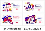 online education courses banner ...   Shutterstock .eps vector #1176068215