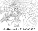 coloring pages. coloring book... | Shutterstock .eps vector #1176068512