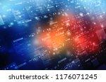 binary code background  digital ... | Shutterstock . vector #1176071245