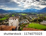 scenic view opening from... | Shutterstock . vector #1176075325