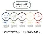 infographic element design 5... | Shutterstock .eps vector #1176075352
