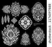 vector set of mandalas  design... | Shutterstock .eps vector #1176097888