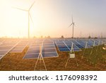 beautiful solar panels with... | Shutterstock . vector #1176098392
