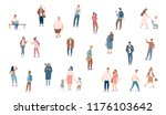crowd. different people vector... | Shutterstock .eps vector #1176103642