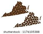 virginia  united states of...   Shutterstock .eps vector #1176105388