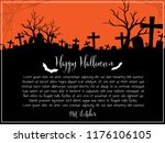 halloween background with...   Shutterstock .eps vector #1176106105
